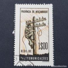 Sellos: MOZAMBIQUE,1965, ASSISTENCIA,TELECOMUNICACIONES, AFINSA 70,YVERT 521, SCOTT RA67,USADO,( LOTE AR ). Lote 194940107
