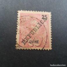 Sellos: GUINÉ, GUINEA PORTUGUESA, 1911, CARLOS I SOBRECARGA, AFINSA 103, SCOTT 100,USADO, ( LOTE AR). Lote 194949267