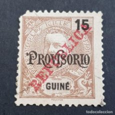 Sellos: GUINÉ, GUINEA PORTUGUESA, 1913, CARLOS I PROVISORIO, AFINSA 141, SCOTT 114,USADO, ( LOTE AR). Lote 194950640
