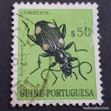 Sellos: GUINÉ, GUINEA PORTUGUESA, 1953, INSECTOS, AFINSA 273, SCOTT E YVERT 284,USADO, ( LOTE AR). Lote 194953141