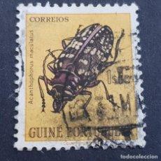 Sellos: GUINÉ, GUINEA PORTUGUESA, 1953, INSECTOS, AFINSA 275, SCOTT E YVERT 286,USADO, ( LOTE AR). Lote 194953370