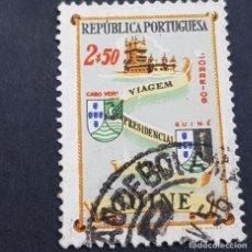 Sellos: GUINÉ, GUINEA PORTUGUESA, 1955, VIAJE PRESIDENCIAL, AFINSA 283, SCOTT E YVERT 293,USADO, ( LOTE AR). Lote 194953776