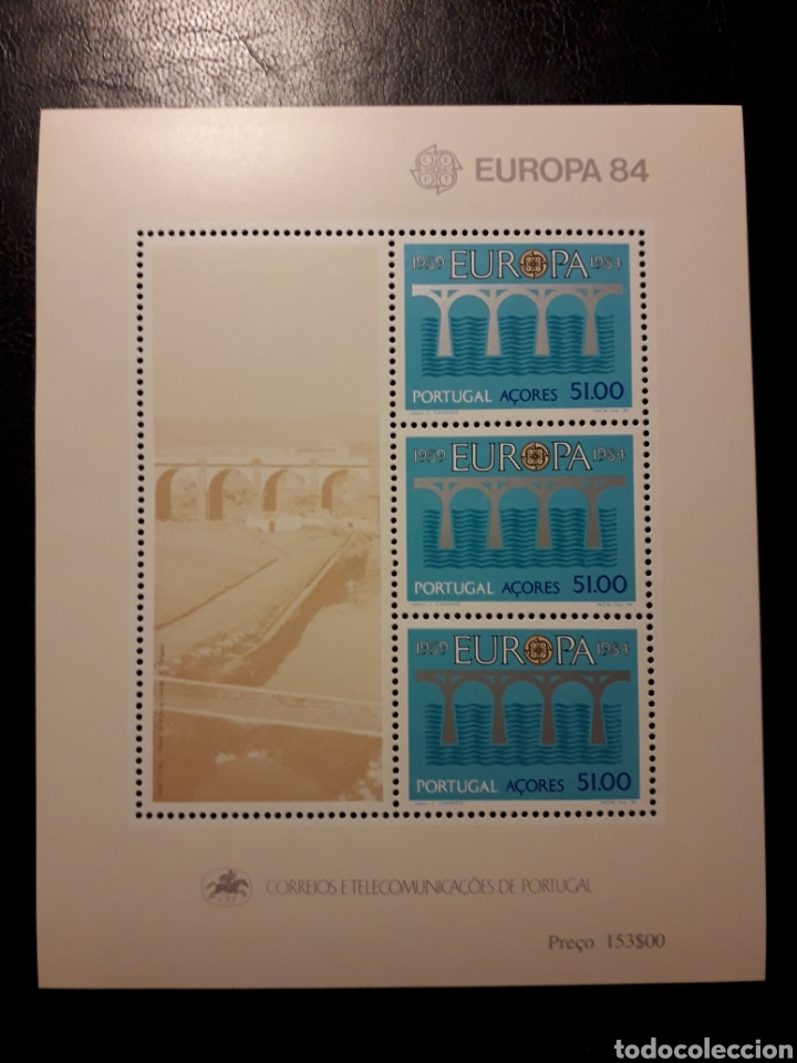 AZORES (PORTUGAL). YVERT HB-5 SERIE COMPLETA NUEVA ***. EUROPA CEPT. PUENTES. (Sellos - Extranjero - Europa - Portugal)