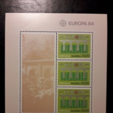 Sellos: MADEIRA (PORTUGAL). YVERT HB-5 SERIE COMPLETA NUEVA ***. EUROPA CEPT. PUENTES.. Lote 194960747