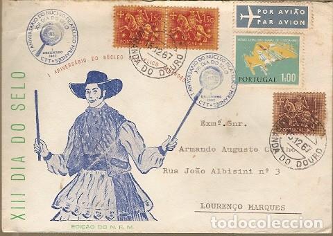 PORTUGAL & FDC XIII DÍA DEL SELLO, MIRANDA DO DOURO A LOURENÇO MARQUES, MOZAMBIQUE 1958 (6462) (Sellos - Extranjero - Europa - Portugal)