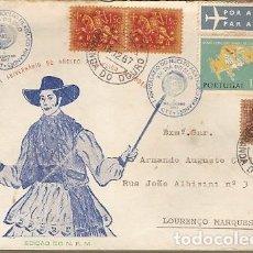 Sellos: PORTUGAL & FDC XIII DÍA DEL SELLO, MIRANDA DO DOURO A LOURENÇO MARQUES, MOZAMBIQUE 1958 (6462). Lote 195031925