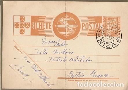 PORTUGAL & BILHETE POSTALE, NIZA A CASTELO BRANCO 1943 (6788) (Sellos - Extranjero - Europa - Portugal)
