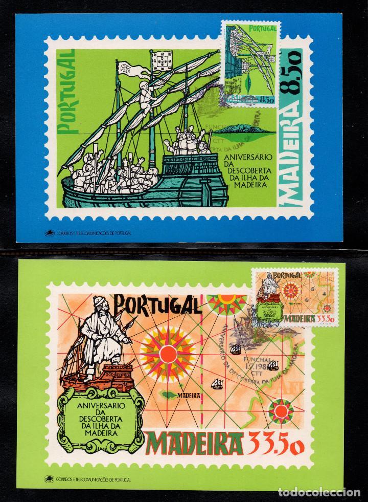 MADEIRA T.MAX 76/77 - AÑO 1981 - BARCOS - ANIVERSARIO DEL DESCUBRIMIENTO DE LA ISLA (Sellos - Extranjero - Europa - Portugal)