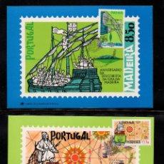 Sellos: MADEIRA T.MAX 76/77 - AÑO 1981 - BARCOS - ANIVERSARIO DEL DESCUBRIMIENTO DE LA ISLA. Lote 195316271