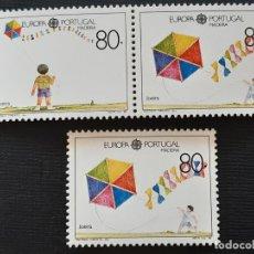 Sellos: MADEIRA, YVERT 131-133**, EUROPA 1989 JUGUETES. Lote 196604022