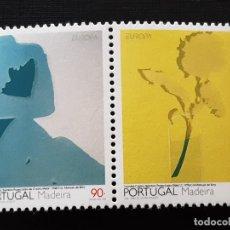 Sellos: MADEIRA, YVERT 169-170**, EUROPA 1993 ARTE. Lote 196604158