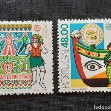 Sellos: PORTUGAL, YVERT 1509-10**, EUROPA 1981 BARCOS. Lote 196604468