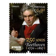 Sellos: PORTUGAL ** & 250 AÑOS DEL NACIMIENTO DE BEETHOVEN 2020 (8424). Lote 276976588