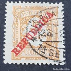 Sellos: PORTUGAL, 1911, PORTEADO REPÚBLICA, AFINSA E YVERT 15, SCOTT J15, USADO, ( LOTE AR ). Lote 198613471