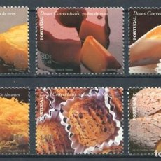 Sellos: PORTUGAL 1999 - GASTRONOMIA - YVERT Nº 2346/2351**. Lote 198666448