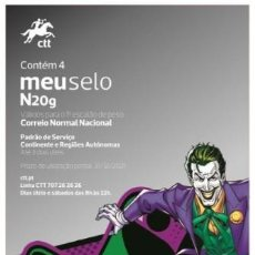 Sellos: PORTUGAL & FOLHETO DC COMICS JOKER 2020 (86728). Lote 198788286