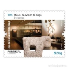 Sellos: PORTUGAL ** & MUSEOS CENTENARIOS DE PORTUGAL, GRUPO II, MUSEU ABADE DE BAÇAL, BRAGANÇA 2020 (5752). Lote 198848957