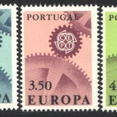 Sellos: PORTUGAL,1967 YVERT Nº 1007 / 1009 /**/, EUROPA (CEPT). Lote 199751055