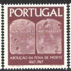 Sellos: PORTUGAL,1967 YVERT Nº 1027 / 1029 /**/, CENTENARIO DE LA ABOLICIÓN DE LA PENA DE MUERTE. Lote 199753207