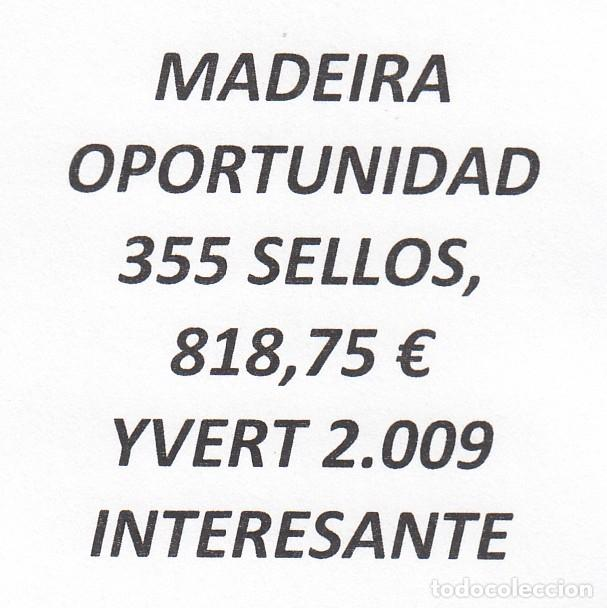 INTERESANTE LOTE MADEIRA, COMPUESTO POR 355 SELLOS, CON 818,75 € CATALOGO YVERT 2.009+ (Sellos - Extranjero - Europa - Portugal)