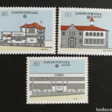 Sellos: PORTUGAL, EUROPA CEPT 1990 MNH, ESTABLECIMIENTOS POSTALES (FOTOGRAFÍA REAL). Lote 203454251