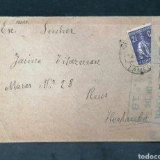 Sellos: CENSURA CARTA PORTUGAL 16 ABRIL 1917. Lote 203598848