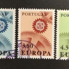 Sellos: PORTUGAL, EUROPA CEPT 1967 USADA(FOTOGRAFÍA REAL). Lote 204112870