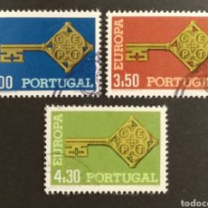 Sellos: PORTUGAL, EUROPA CEPT 1968 USADA (FOTOGRAFÍA REAL). Lote 204113288