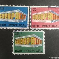 Sellos: PORTUGAL, EUROPA CEPT 1969 USADA (FOTOGRAFÍA REAL). Lote 204113837