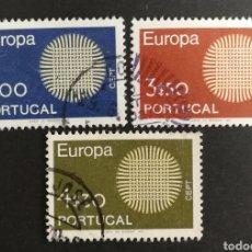Sellos: PORTUGAL, EUROPA CEPT 1970 USADA (FOTOGRAFÍA REAL). Lote 204115148