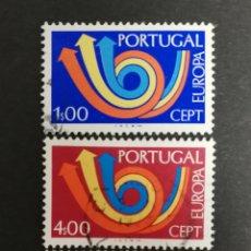 Sellos: PORTUGAL, EUROPA CEPT 1973 USADA, (FOTOGRAFÍA REAL). Lote 204120546