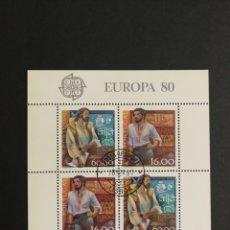 Sellos: PORTUGAL, EUROPA CEPT 1980 USADA, PERSONAJES CÉLEBRES (FOTOGRAFÍA REAL). Lote 204145255