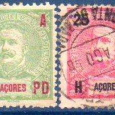 Sellos: PORTUGAL. ISLAS AZORES. AÑO 1906, SOBRECARGADOS, EN USADOS. Lote 204205571