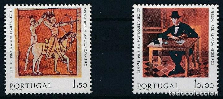 PORTUGAL 1975 IVERT 1261/2 *** EUROPA - PINTURA (Sellos - Extranjero - Europa - Portugal)
