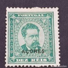 Sellos: AZORES AÇORES, 1884-1887, LUIS I, AFINSA E YVERT 53*, SCOTT 46*, FIJASELLO,LEER, 12 1/2, ( LOTE AR ). Lote 205298243