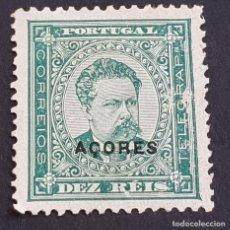 Sellos: AZORES AÇORES, 1884-1887, LUIS I, AFINSA E YVERT 53, SCOTT 46, NUEVO, MARQUILLADO, LEER, ( LOTE AR ). Lote 205300596