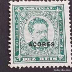 Sellos: AZORES AÇORES, 1884-1887, LUIS I, AFINSA E YVERT 53*, SCOTT 46*, NUEVO,LEER, 13 1/2, ( LOTE AR ). Lote 205302363