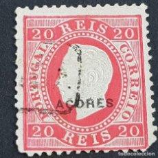 Sellos: AZORES AÇORES, 1885, LUIS I, AFINSA 58, YVERT 60, SCOTT 49, USADO, DENT. 12 1/2, ( LOTE AR ). Lote 205368900