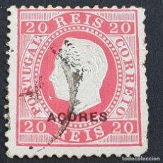 Sellos: AZORES AÇORES, 1885, LUIS I, AFINSA 58, YVERT 60, SCOTT 49, USADO, DENT. 12 1/2, ( LOTE AR ). Lote 205368948