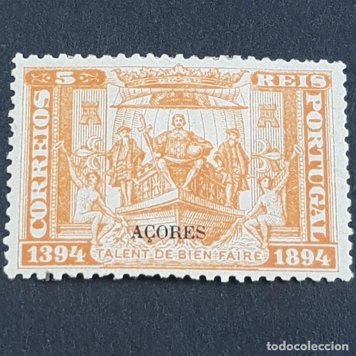 AZORES AÇORES, 1894, V CENT. NACTO D. ENRIQUE., AFINSA 60*, YVERT 62*, SCOTT 65*, LEER, ( LOTE AR ) (Sellos - Extranjero - Europa - Portugal)