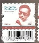 PORTUGAL ** & HISTORIA Y LA CULTURA, 100 AÑOS DE BERNARDO SANTARENO, DRAMATURGO 2020 (5751) (Sellos - Extranjero - Europa - Portugal)