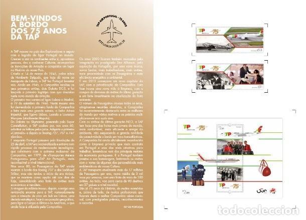 Sellos: Portugal ** & PGSB 75 Años TAP AIR PORTUGAL 2020 86729) - Foto 2 - 206302448