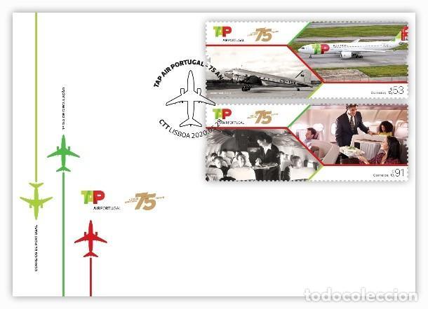 PORTUGAL & FDC 75 AÑOS TAP AIR PORTUGAL 2020 (8672) (Sellos - Extranjero - Europa - Portugal)