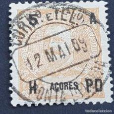 Sellos: AZORES AÇORES, 1906, CARLOS I, AFINSA 97, YVERT 99, SCOTT 102, USADO, ( LOTE AR ). Lote 206425138
