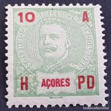 Sellos: AZORES AÇORES, 1906, CARLOS I, AFINSA 98*, YVERT 100*, SCOTT 103*, NUEVO,FIJASELLO, ( LOTE AR ). Lote 206429378