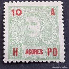 Sellos: AZORES AÇORES, 1906, CARLOS I, AFINSA 98*, YVERT 100*, SCOTT 103*, NUEVO,FIJASELLO, ( LOTE AR ). Lote 206429422