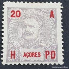 Sellos: AZORES AÇORES, 1906, CARLOS I, AFINSA 99*, YVERT 101*, SCOTT 104*, NUEVO, FIJASELLO, ( LOTE AR ). Lote 206430251