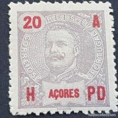 Sellos: AZORES AÇORES, 1906, CARLOS I, AFINSA 99*, YVERT 101*, SCOTT 104*, NUEVO, FIJASELLO, ( LOTE AR ). Lote 206430280
