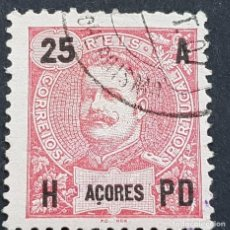 Sellos: AZORES AÇORES, 1906, CARLOS I, AFINSA 100, YVERT 102, SCOTT 105, USADO, ( LOTE AR ). Lote 206433486