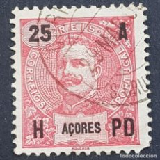 Sellos: AZORES AÇORES, 1906, CARLOS I, AFINSA 100, YVERT 102, SCOTT 105, USADO, ( LOTE AR ). Lote 206433921